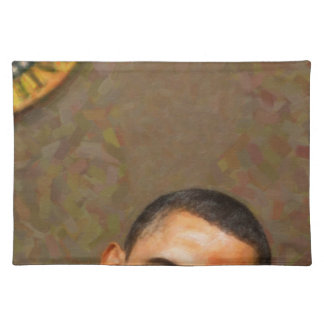 Abstract Portrait of President Barack Obama 11 Placemat