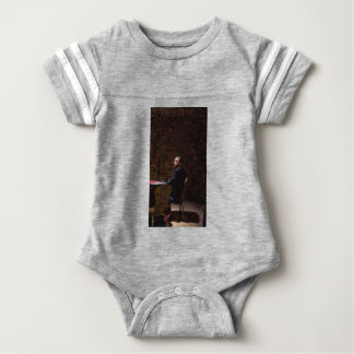 Abstract Portrait of President Barack Obama 13 Baby Bodysuit