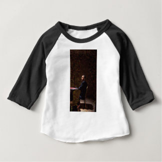 Abstract Portrait of President Barack Obama 13 Baby T-Shirt