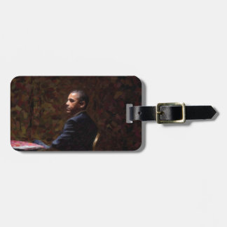 Abstract Portrait of President Barack Obama 13 Luggage Tag