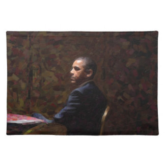 Abstract Portrait of President Barack Obama 13 Placemat