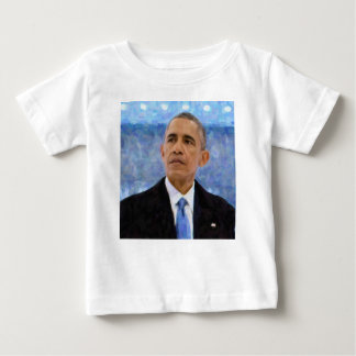 Abstract Portrait of President Barack Obama 30x30 Baby T-Shirt