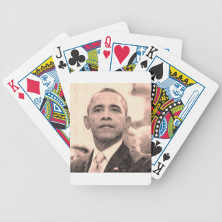 Abstract Portrait of President Barack Obama 30x30 Bicycle Playing Cards