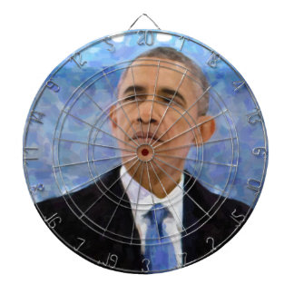 Abstract Portrait of President Barack Obama 30x30 Dartboard