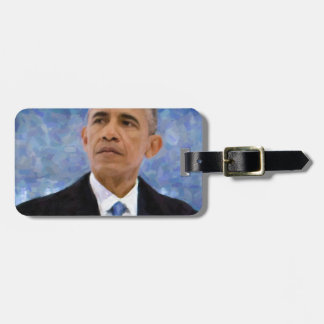 Abstract Portrait of President Barack Obama 30x30 Luggage Tag