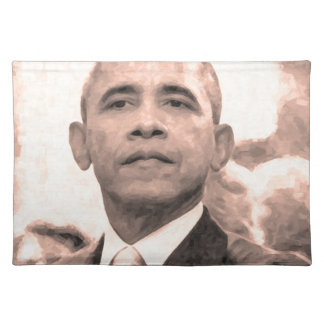 Abstract Portrait of President Barack Obama 30x30 Place Mats