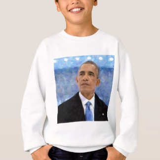 Abstract Portrait of President Barack Obama 30x30 Sweatshirt