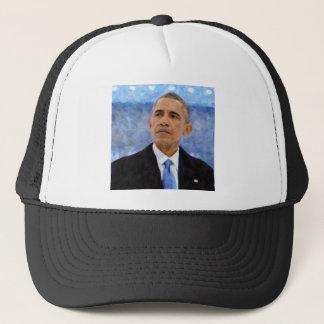 Abstract Portrait of President Barack Obama 30x30 Trucker Hat