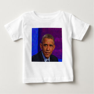 Abstract Portrait of President Barack Obama 7 Baby T-Shirt
