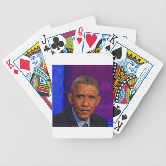 Abstract Portrait of President Barack Obama 7 Bicycle Playing Cards