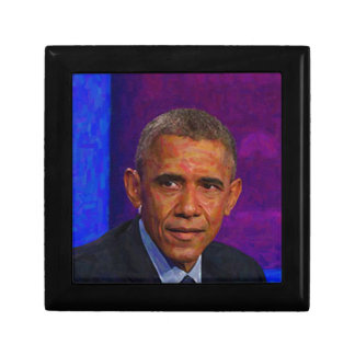 Abstract Portrait of President Barack Obama 7 Jewelry Boxes