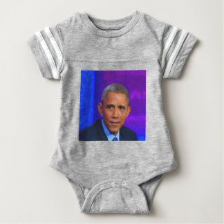 Abstract Portrait of President Barack Obama 8 a.jp Baby Bodysuit