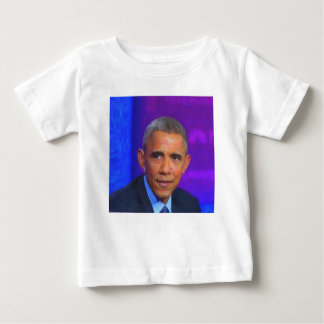 Abstract Portrait of President Barack Obama 8 a.jp Baby T-Shirt