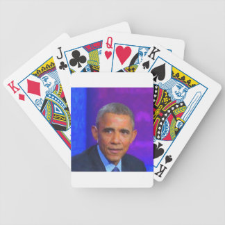Abstract Portrait of President Barack Obama 8 a.jp Bicycle Playing Cards