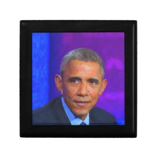 Abstract Portrait of President Barack Obama 8 a.jp Gift Box