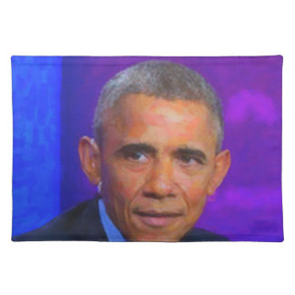 Abstract Portrait of President Barack Obama 8 a.jp Placemat