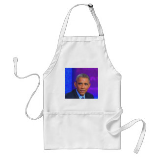Abstract Portrait of President Barack Obama 8 a.jp Standard Apron