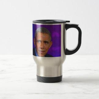 Abstract Portrait of President Barack Obama 8 a.jp Travel Mug