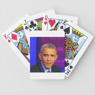 Abstract Portrait of President Barack Obama 8 Bicycle Playing Cards