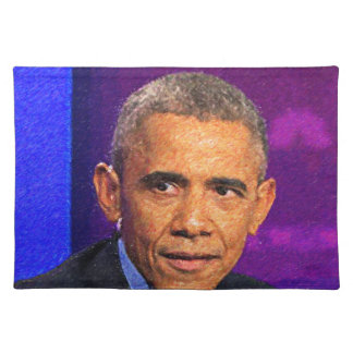 Abstract Portrait of President Barack Obama 8 Placemat