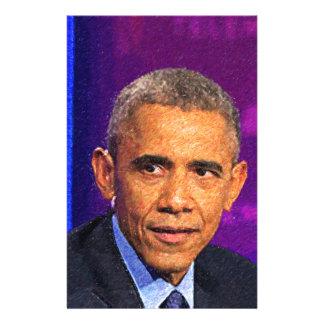 Abstract Portrait of President Barack Obama 8 Stationery