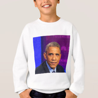 Abstract Portrait of President Barack Obama 8 Sweatshirt