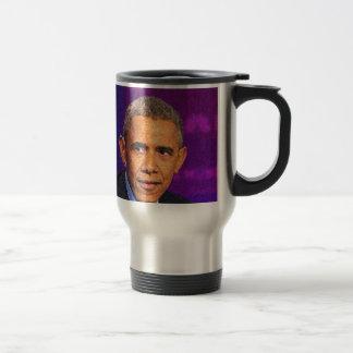 Abstract Portrait of President Barack Obama 8 Travel Mug