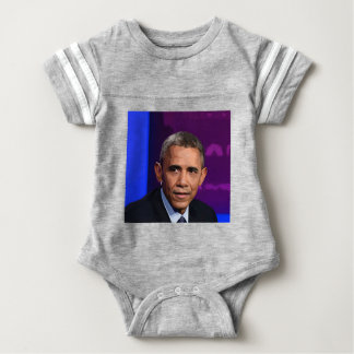 Abstract Portrait of President Barack Obama 9 Baby Bodysuit