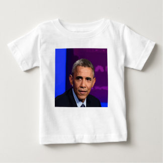 Abstract Portrait of President Barack Obama 9 Baby T-Shirt