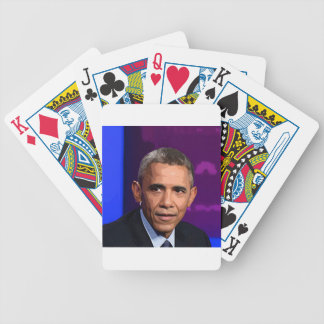 Abstract Portrait of President Barack Obama 9 Bicycle Playing Cards