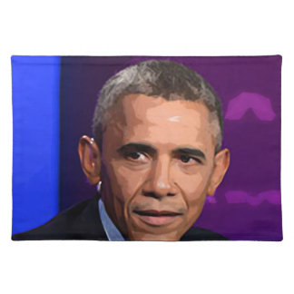 Abstract Portrait of President Barack Obama 9 Placemat