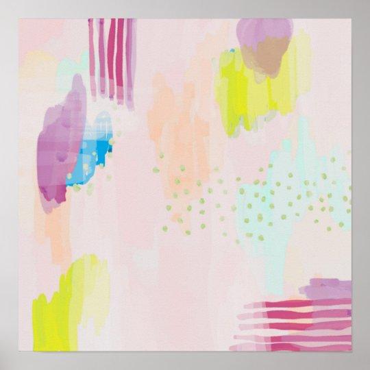 Abstract Poster Print Blush Multi
