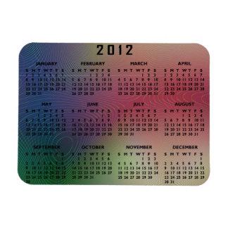 abstract rectangular photo magnet