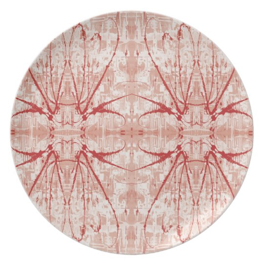 Abstract print Melamine Plate