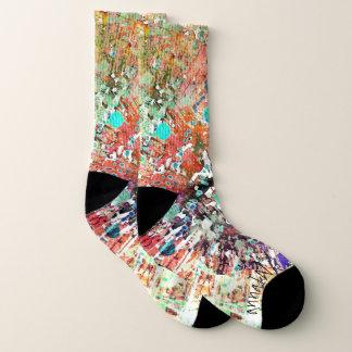 Abstract Print Socks