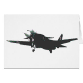ABSTRACT PROP PLANE DESIGN GREETING CARD
