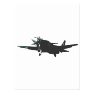 ABSTRACT PROP PLANE DESIGN POSTCARD