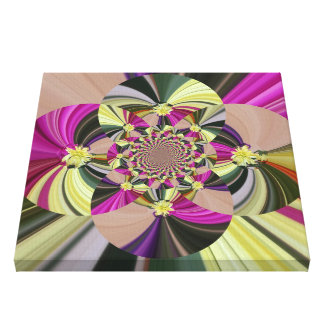 Abstract Psychedelic Flowers Canvas Print