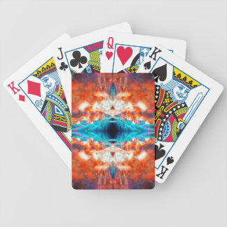 Abstract psychedelic pattern bicycle playing cards