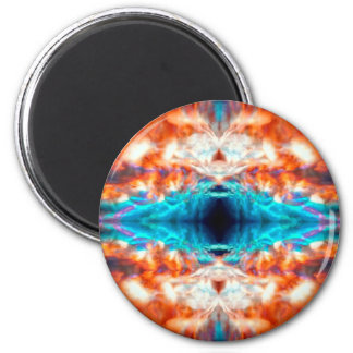 Abstract psychedelic pattern magnet
