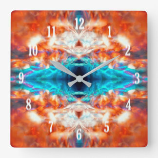 Abstract psychedelic pattern square wall clock