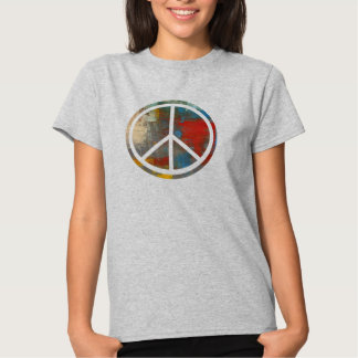 Abstract Psychedelic Peace Sign Shirt