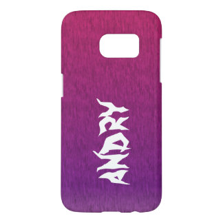 abstract psychedelic pink purple samsung galaxy s7 case