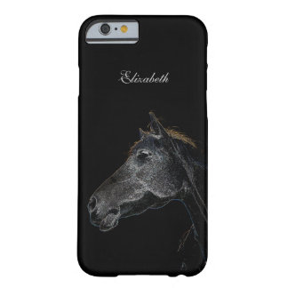 Abstract Psychedelic Silver And Black Horse Barely There iPhone 6 Case