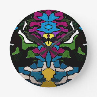 Abstract psychedelic trippy Medusa design Clock