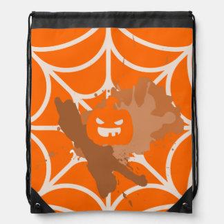 Abstract Pumpkin Drawstring Backpack