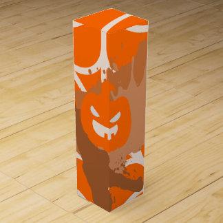 Abstract Pumpkin Wine Gift Box