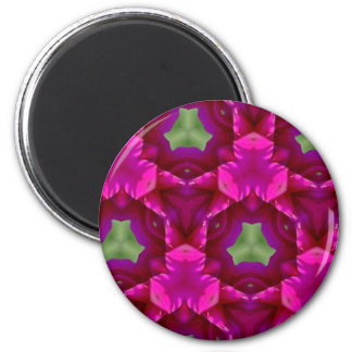 Abstract Purple And Green Products 2 Inch Round Magnet