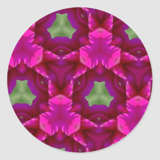 Abstract Purple And Green Products Round Sticker