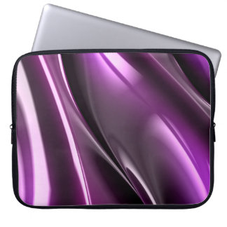 Abstract Purple Black Neoprene Laptop Sleeve 15''